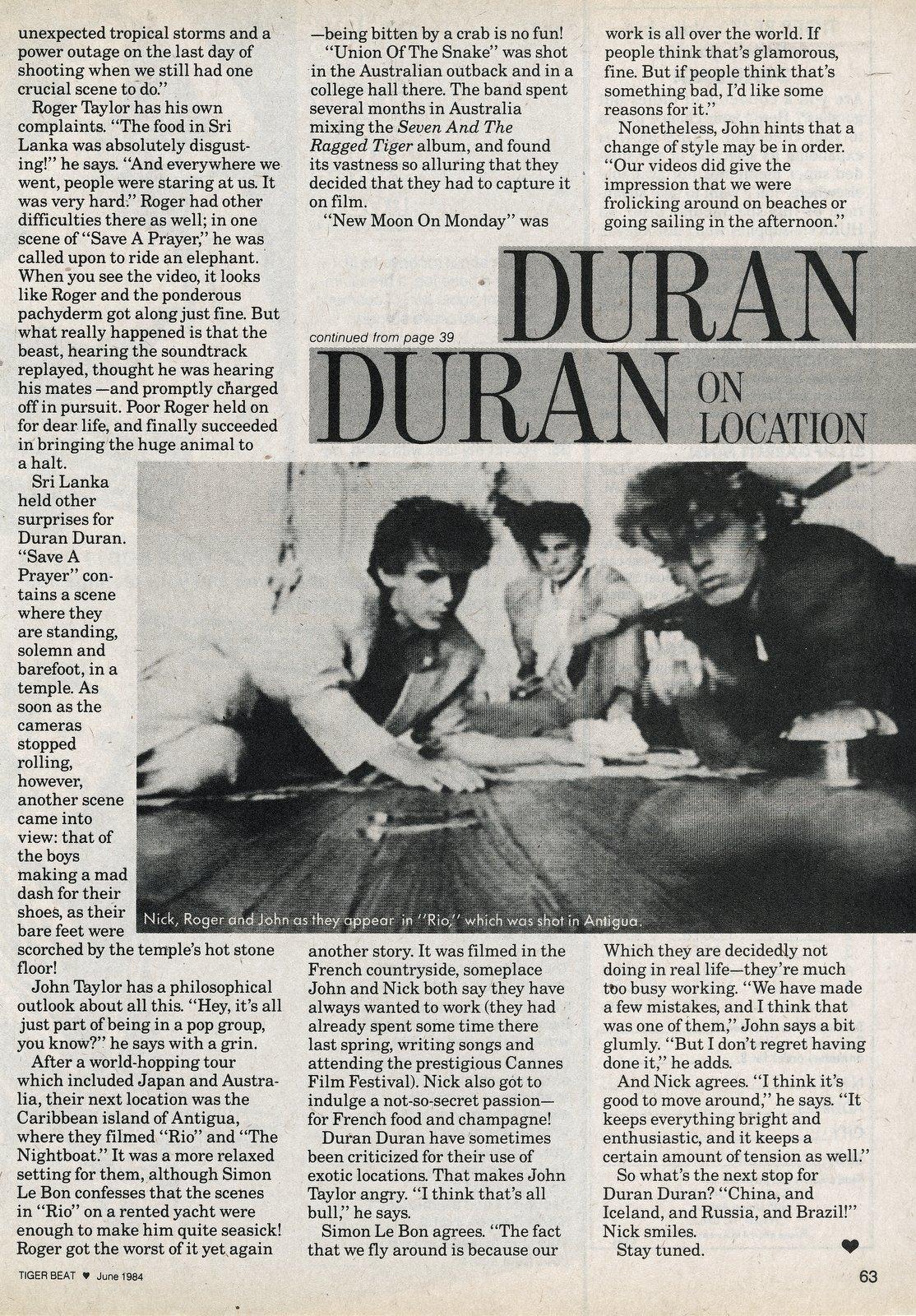 Duran Duran in Sri Lanka to film the Save A Prayer video 1980s (1)