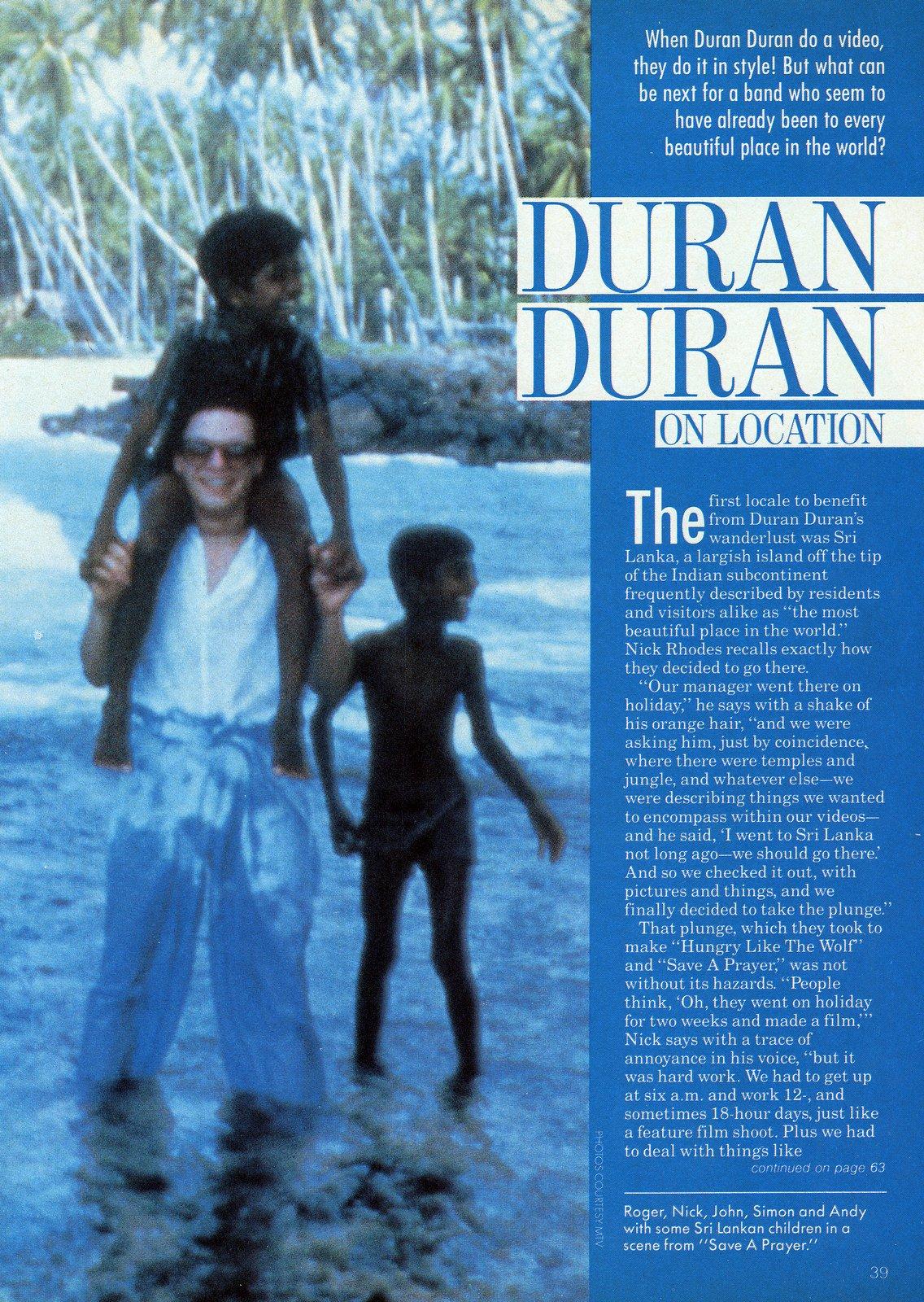 Duran Duran in Sri Lanka to film the Save A Prayer video 1980s (2)