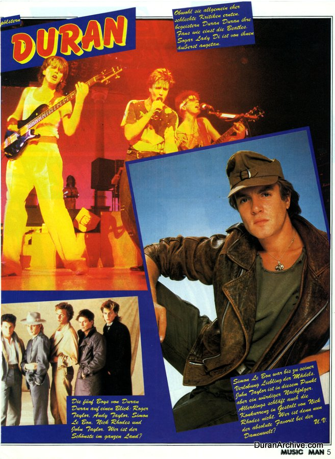 Duran Duran in Music Man