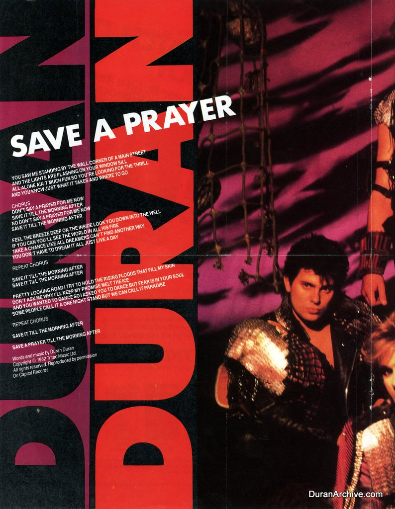 Save a Prayer lyrics