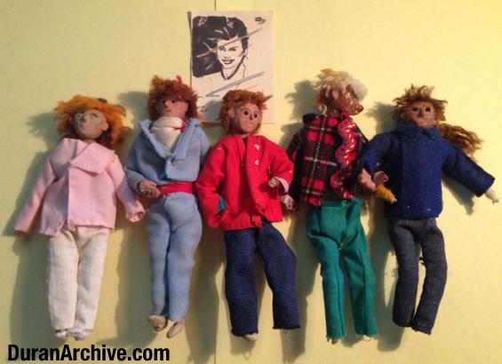 Nick, John, Roger, Simon & Andy Dolls
